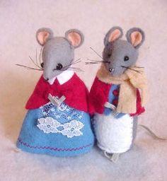 vintage felt mouse - Google Search