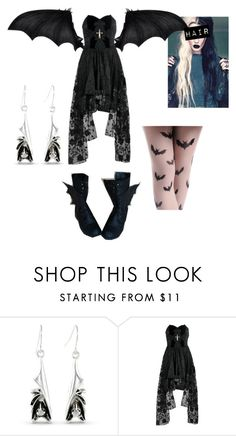 """Bats"" by demolition-vampire ❤ liked on Polyvore"