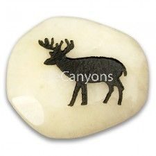 Spirit Stones - Deer   Price : $2.99 Rune Casting, Nature Spirits, Animal Totems, Stone Painting, Painted Rocks, Mythology, Deer, Insects, Sensitivity