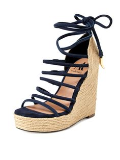 3ef0fae147d Dinah Ankle Tie Rope Wedge from dinah ankle tie rope wedge on Gilt Ankle  Wrap Sandals