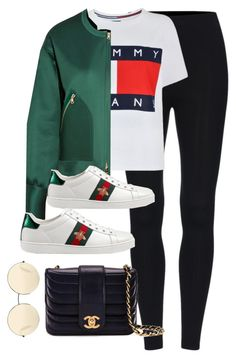 """Untitled #3783"" by theaverageauburn ❤ liked on Polyvore featuring Tommy Hilfiger, Victoria, Victoria Beckham, Gucci, Chanel and Victoria Beckham"