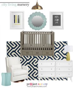 City Living Nursery Design Board - Project Nursery