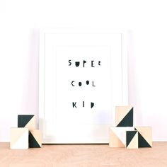 Super Cool Kid print by Ingrid Petrie Design, available at ingridpetriedesign.bigcartel.com
