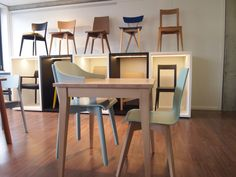 Z-Creations, chairs and tables in wood - Showroom in Switzerland,  at Anteprima, Wetzikon