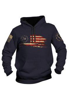 Grunt Style American Gun Club Pullover Hoodie Dark Heather