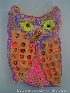 Use Your Coloured Pencils: Clay Owls