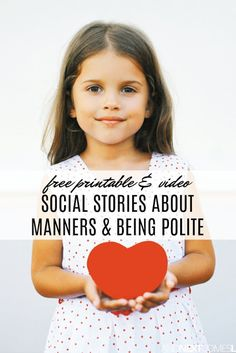 Free social stories printables about manners & being polite Social Skills Lessons, Social Skills For Kids, Social Skills Activities, Teaching Social Skills, Life Skills, Teaching Kids, Social Work, Kids Learning, Teaching Resources