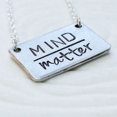love this mind over matter silver necklace