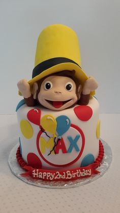 https://flic.kr/p/r18D5E | Curious George Cake