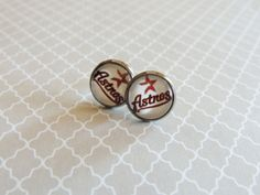Houston Astros Baseball Studs For Her by MeccaFox on Etsy, $10.00 #astros