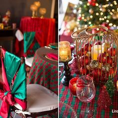 Here's some Linen Hero tradition-rich color on our holiday table designs currently in our showroom! Duchess Satin Red, Hunter Sashes and Napkins sit pretty as a bird on Gold Beaded Rim Charger plates. Check out the blog post to shop this #LinenHeroLook!