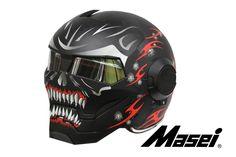 Masei Black Meikai Hades 610 Motorcycle Harley Chopper DOT Helmet Free Shipping Worldwide