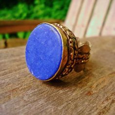 Afghan Lapis Lazuli Over Sized Ring - $69.00