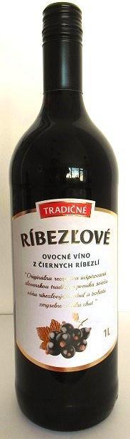 www.vinopredaj.sk  Tradičné ríbezľové ovocné víno z čiernych ríbezlí Topoľčianky, obj. 1 L., Alk. 12 % obj.