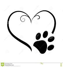 Heart with paw print Dog Tattoos, Cat Tattoo, Animal Tattoos, Tattoo You, Body Art Tattoos, Small Tattoos, Print Tattoos, Tattoo Bracelet, Dog Paws