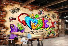 Music Animated Art Graffiti Hiphop Art Wall Murals Wallpaper Decals Prints Decor IDCWP-JB-000080