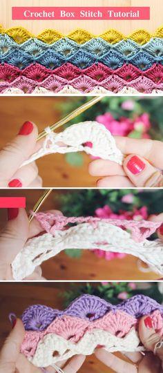Crochet Box Stitch Tutorial, Pattern   #crochetboxstitch #freecrochetpattern #crochetpatterns