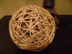 Make Decorative Twine Balls
