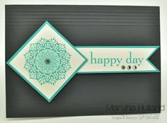 Marsha Hulland - Smudge Smudge....Ink Ink!: Happy Day Stamp Set, Modern Medley DSP, Simply Scored.