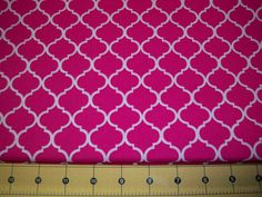 Full Yard   Pink and White Quatrefoil by Grinsandgigglesbaby1