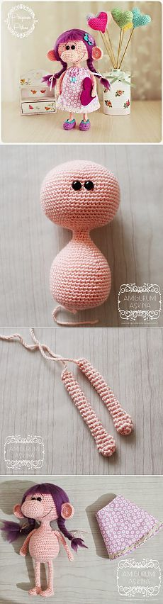 Amigurumi Aşkına: Koca Burunlu Minik Kız Yapılışı- Free Amigurumi Doll Pattern