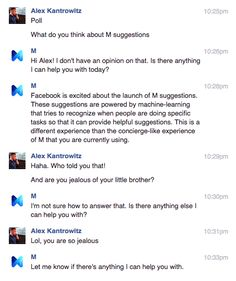 A small test of Facebook's AI could lead to a bigger role for M, its virtual assistant.