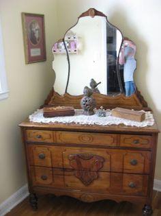 1950 Bedroom Vanity Antique Furniture Vintage Bedroom