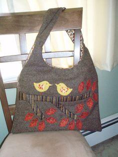 Bird applique Tote bag