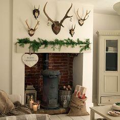 Living room fireplace Georgian Country House