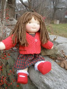 Waldorf Doll Handmade 16 cloth doll by hazeldoll on Etsy