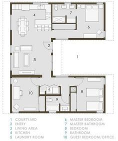 Amazing Small U Shaped House Plans First Floor Plan Of House Plan 40027 Largest Home Design Picture Inspirations Pitcheantrous