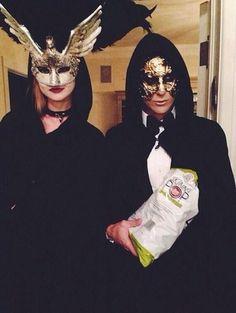 Omg Adam and Behati their Halloween costumes but I think the popcorn bag kinda ruins it.