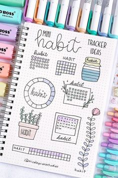 19 Amazing April Habit Trackers For Bujo Inspiration - Crazy Laura Looking for inspiration when adding a new page to your bullet journal! These adorable April habit tracker examples will give you some ideas to get started! Bullet Journal School, Bullet Journal Headers, Bullet Journal Banner, Bullet Journal Writing, Bullet Journal Tracker, Bullet Journal Aesthetic, Bullet Journal Spread, Monthly Bullet Journal Layout, Bullet Journals