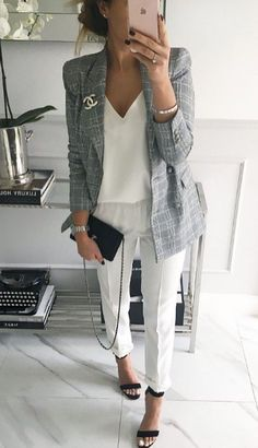 fashion outfits for work - fashion outfits women ; fashion outfits women over 40 over 50 ; fashion outfits women over 30 ; fashion outfits for work Preppy Fall Outfits, Summer Work Outfits, Business Casual Outfits, Business Attire, Office Outfits, Mode Outfits, Business Fashion, Trendy Outfits, Fashion Outfits