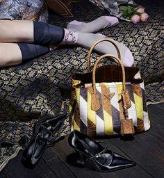 Shop the latest#Runwayessentials featuring #PradaSS '15 collection for both#Men&#Women!  Explore#handbags,#wallets,#footwearand#beltshere: @darveys.com