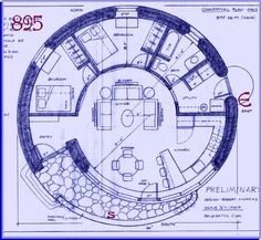 Love these Spiral house plans, but need a common plumbing wall for bath, kitchen…