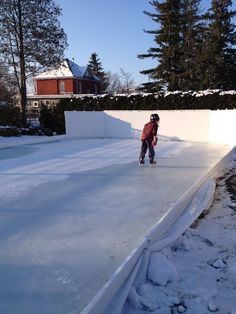 First Skate November 21st, 2014, on the Winchester Invitational Backyard Ice Hockey Rink.