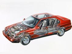 1992-1997 Alfa Romeo 164 Super - Illustration unattributed