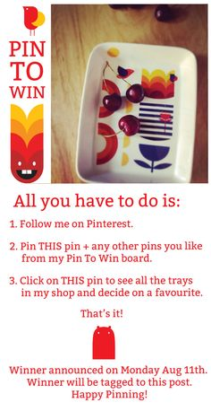 Participate to win a tray hand-decorated in Camila's studio! #PinToWin #Competition
