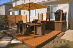 Patio Plus - Patios niveaux Back Deck Designs, Backyard Patio Designs, Deck Patio, Backyard Ideas, Garden Ideas, Outdoor Deck Decorating, Outdoor Decor, Outdoor Ideas, Patio Plus