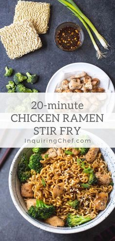 Chicken Ramen Stir-Fry - This easy ramen stir-fry uses chicken, broccoli, and ramen noodles. It's saucy, fast, and uses kitchen staples. Dinner tonight for the whole family! via dinner tonight Chicken Ramen Stir-Fry Dinner Side Dishes, Main Dishes, Le Diner, The Best, Tofu, Foodies, Basic Recipe, Pot Recipe, Recipe Ideas