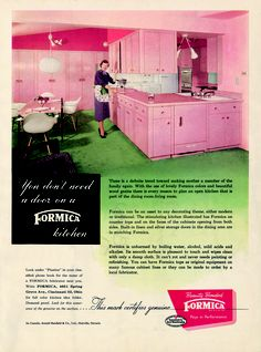 You don't need a door on a Formica kitchen!  #Formica #Vintage