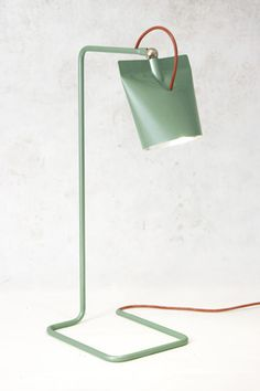 """green metal lamp """" X Y and Z"""" – wall construction 