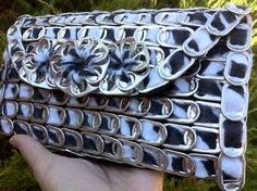 Upcycled Aluminum Soda Pop Tab Clutch Wallet ♥ by BeasCollectibles