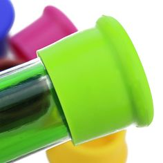 2015 Hot Sale Creative Silicone Rubber Wine Beer Bottle Stopper Cap Cover Sealer Pure Color