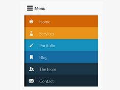Dribbble - Responsive Menu Mobile - mobile version by Stéphanie ✿