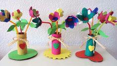 Fleurs réalisées avec des boîtes à oeufs