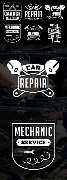 Mechanic Logo & Badge - #Badges & Stickers #Web Elements