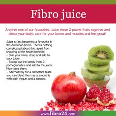 We created a bunch of recipes that could help folks with fibromyalgia.  This is certainly a big help. Drink some of mother natures best antioxidants. But be warned, its sharp in flavour and certainly good for waking up to in the morning.