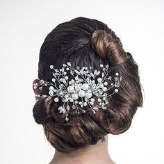 Fern Bridal Bridesmaid Silver Pearl and Crystal Vintage Haircomb Hairslide in Clothes, Shoes & Accessories, Wedding & Formal Occasion, Bridal Accessories | eBay